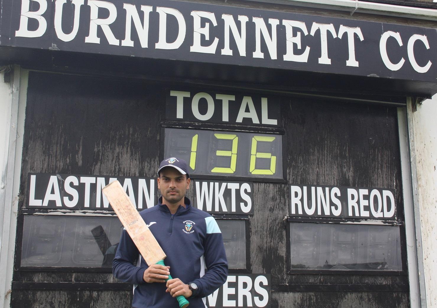 Burndennett overseas player Salman Ahmed scored an unbeaten 136 against St Johnston in Saturday's T20